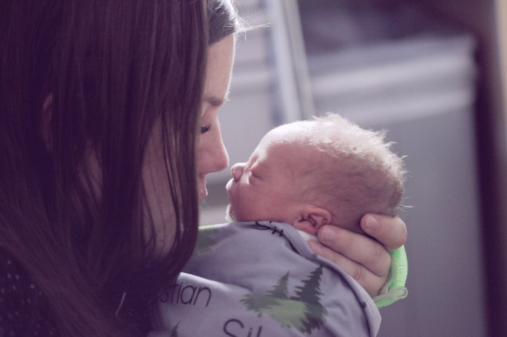 surviving the first month with a newborn - mom and newborn