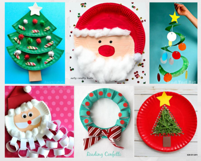 Christmas-craft-using -Paper-plate