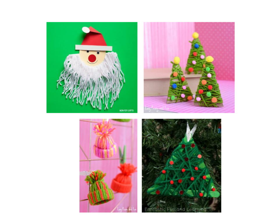 Christmas-craft-using -yarn