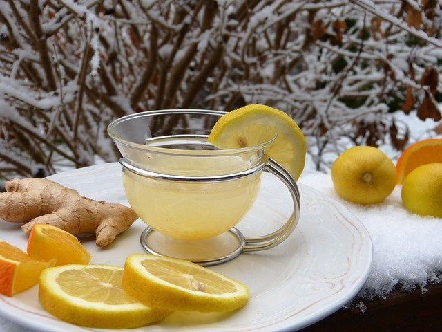 8 Beverages to keep Breastfeeding Moms Hydrated other than Water -ginger lemon tea in cup