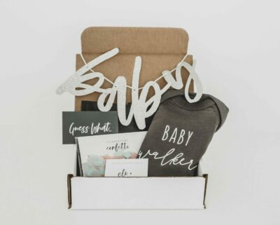 Creative Ways to Announce Pregnancy to Immediate Family - baby gift box for pregnancy announcement