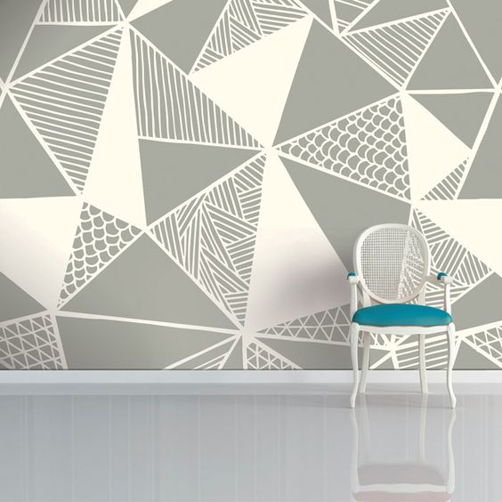 30 Trendy Geometric Wall Painting Ideas for a Boy's