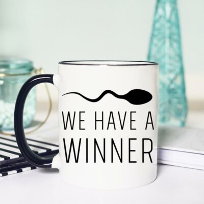 Creative Ways to Announce Pregnancy to Immediate Family - we have a winner written mug