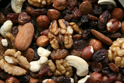 21 Healthy Snacks to Pack in Hospital Bag for Labor- pile of nuts
