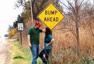 Bump anead pregnancy announcemement