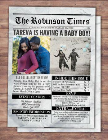 Newspaper Pregnancy Announcement