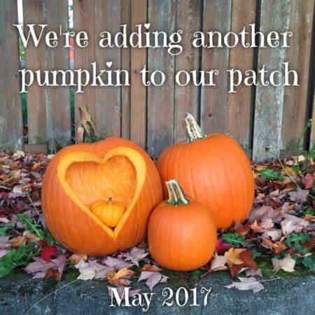 carved pumpkin for pregnancy annoucement