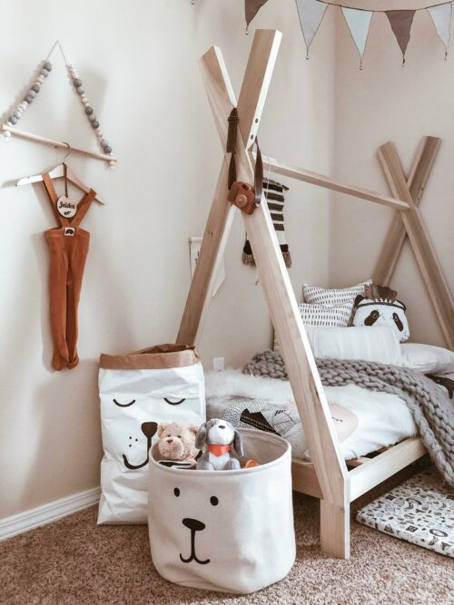 Non-Toxic Montessori Floor beds for Toddlers-Teepee floor bed