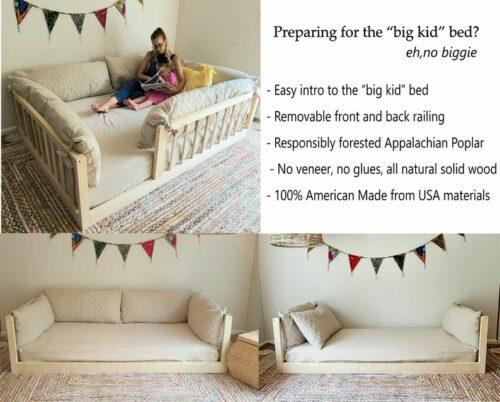 Non-Toxic Montessori Floor beds for Toddlers- Zeepadikids toddler floor bed