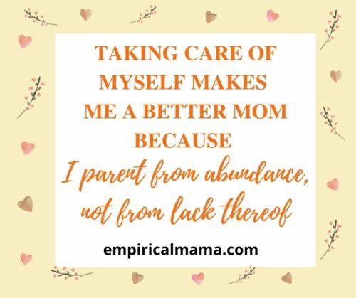 Positive postpartum Affirmations for new moms
