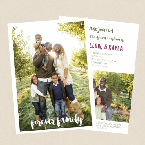 Baby Birth Announcement Ideas for a new addition to your Family -Adoption birth announcement idea