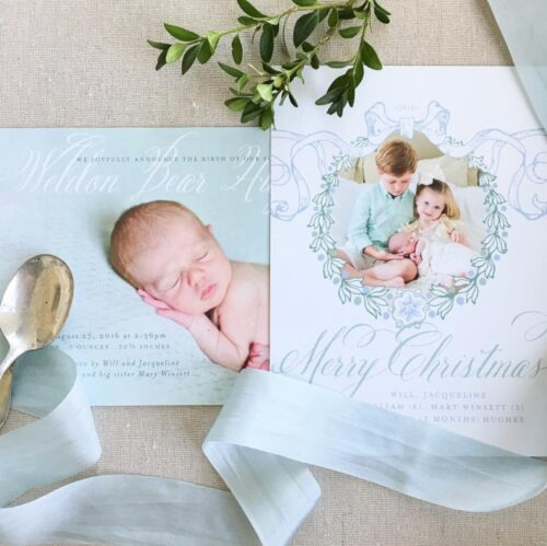 Baby Birth Announcement Ideas for a new addition to your Family -Christmas Holiday birth announcement idea