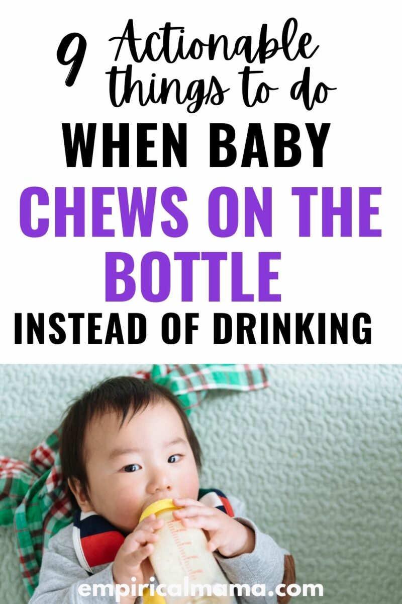 9 things to try when Baby chews on the Bottle Instead of Drinking
